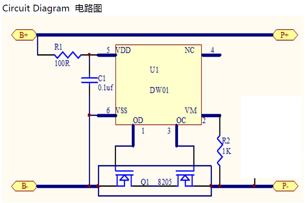 Lithium battery protection circuit board