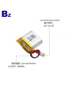 China Factory Supplies Most Popular Mini LED Lights Lipo Battery UFX 112525 500mAh 3.7V Li-polymer Battery