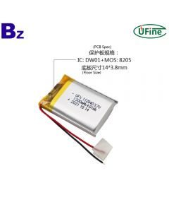 Chinese Lithium Cell Factory Supply Massager Battery UFX 112840 3.7V 1300mAh Li-ion Polymer Battery