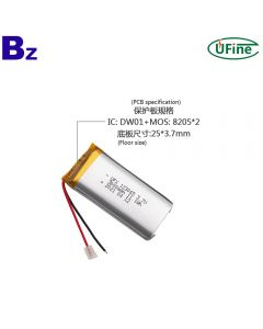 2021 Year Newest Tire Pressure Detector Rechargeable Lipo Battery UFX 123065 3.7V 3000mAh Lithium-ion Polymer Battery