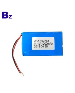 China Hot Sales For Infrared Detector Lipo Battery UFX 163764-3S 1200mAh 11.1V Li-Polymer Battery