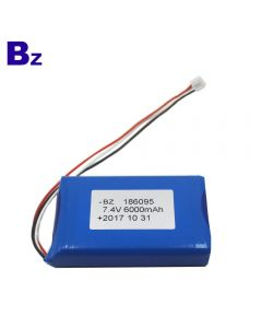 China Battery Manufacturer Customized Lipo Battery for Electronic Beauty Devices BZ 186095 2S 6000mAh 7.4V Polymer Li-Ion Battery