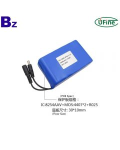 Manufactory Supply Communication Network Equipment 18650 Battery Packs UFX 18650-4P3S 10000mAh 11.1V Cylindrical 18650 Batteries