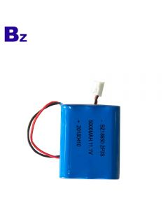 China Lithium Battery Manufacturer Wholesale Beauty Instrument Battery BZ 18650 2P3S 5000mAh 11.1V Li-ion Battery