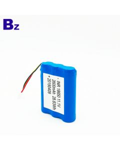 China Best Lithium Battery Supplier Customized Cylindrical 18650 Batteries BZ 18650 3S 2600mAh 11.1V Rechargeable Li-ion Battery