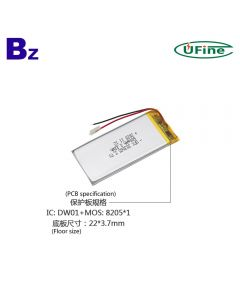 China Manufacturer Wholesale Cheapest Blood Pressure Monitor Lipo Battery UFX 303065 600mAh 3.7V Li-polymer Battery