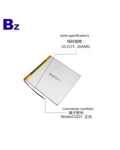 High Performance Rechargeable Flat Computer Lipo Battery UFX 35100118 5000mAh 3.7V Lithium Polymer Battery