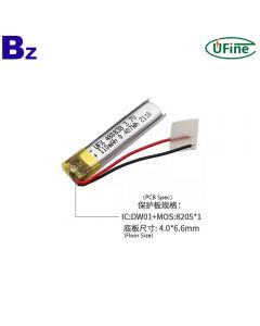Lithium Ion Cell Factory Hot Selling Lithium Polymer Battery for Electric Toothbrush UFX 480838 3.7V 110mAh Lipo Battery