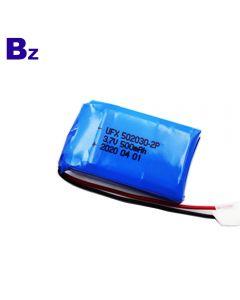 High Performance For Car Navigation Instrument Lipo Battery UFX 502030-2P 500mAh 3.7V Li-Polymer Battery