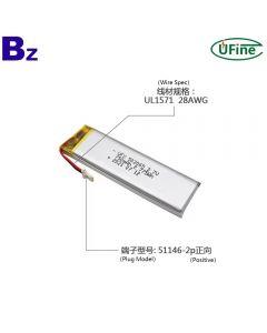 Lithium Cell Manufacturer Wholesale Battery Pack for LED Light UFX 502065 750mAh 3.7V Li-po Batteries