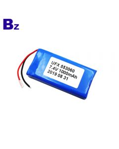 Factory Direct Supply For Smart Water Cup Battery UFX 553060-2S 1000mAh 7.4V Lithium Polymer Battery