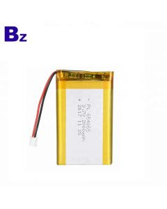 Lithium Battery Factory Custom UL Certification Battery for GPS Devices BZ 654065 3.7V 2000mAh Lipo Battery with KC Certificate