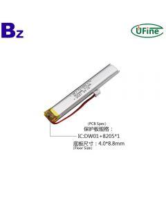 China Lithium Cell Manufacturer Customized Monitoring Equipment Battery UFX 701688 3.7V 900mAh Li-po Battery