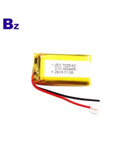 Eco-friendly High Performance For Beauty Liquid Injection Instrument Lipo Battery UFX 702540 600mAh 3.7V Li-Polymer Battery