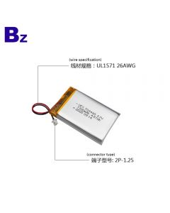 Lithium Cells Manufacturer Supply Security Alarm Device Lipo Battery UFX 703448 1300mAh 3.7V Lithium Polymer Battery