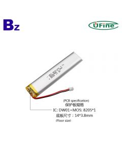 Battery Factory Direct Sales Top Quality Smart Reading Pen Lipo Battery UFX 8021100 2000mAh 3.7V Lithium Polymer Battery