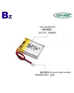 Customize Most High Performance Loudspeaker Lipo Battery UFX 902128 500mAh 3.7V Lithium Polymer Battery