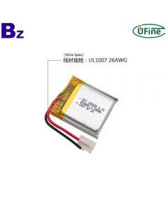 China Cell Factory Wholesale Selfie Stick Li-ion Polymer Battery UFX 102428 650mAh 3.7V Li-po Battery