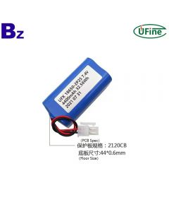 Factory Supply Rechargeable Cylindrical 18650 Batteries for Medical Equipment UFX 18650-2S2P 4400mAh 7.4V Li-Ion Battery