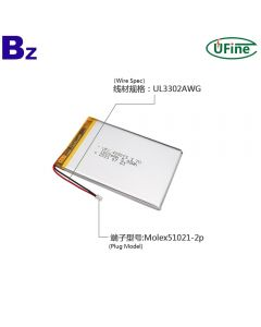 China High Quality for Power Bank Rechargeable Battery UFX 405073 1600mAh 3.7V Lithium Ion Polymer Batteries