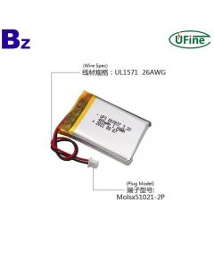 Customized Beauty Equipment LiFePO4 Batteries UFX 602837 400mAh 3.2V lithium iron phosphate Battery