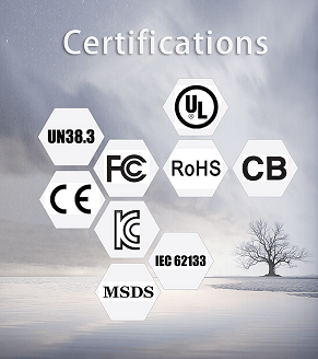 lipo battery Certifications