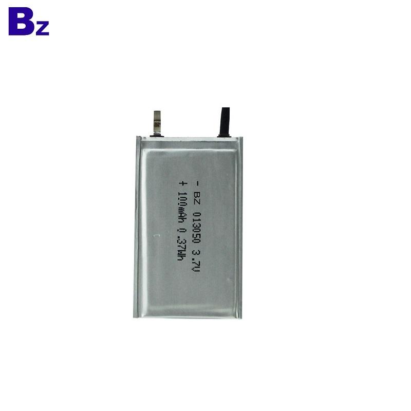 100mah 3.7V Ultra Thin Polymer Li-Ion Battery