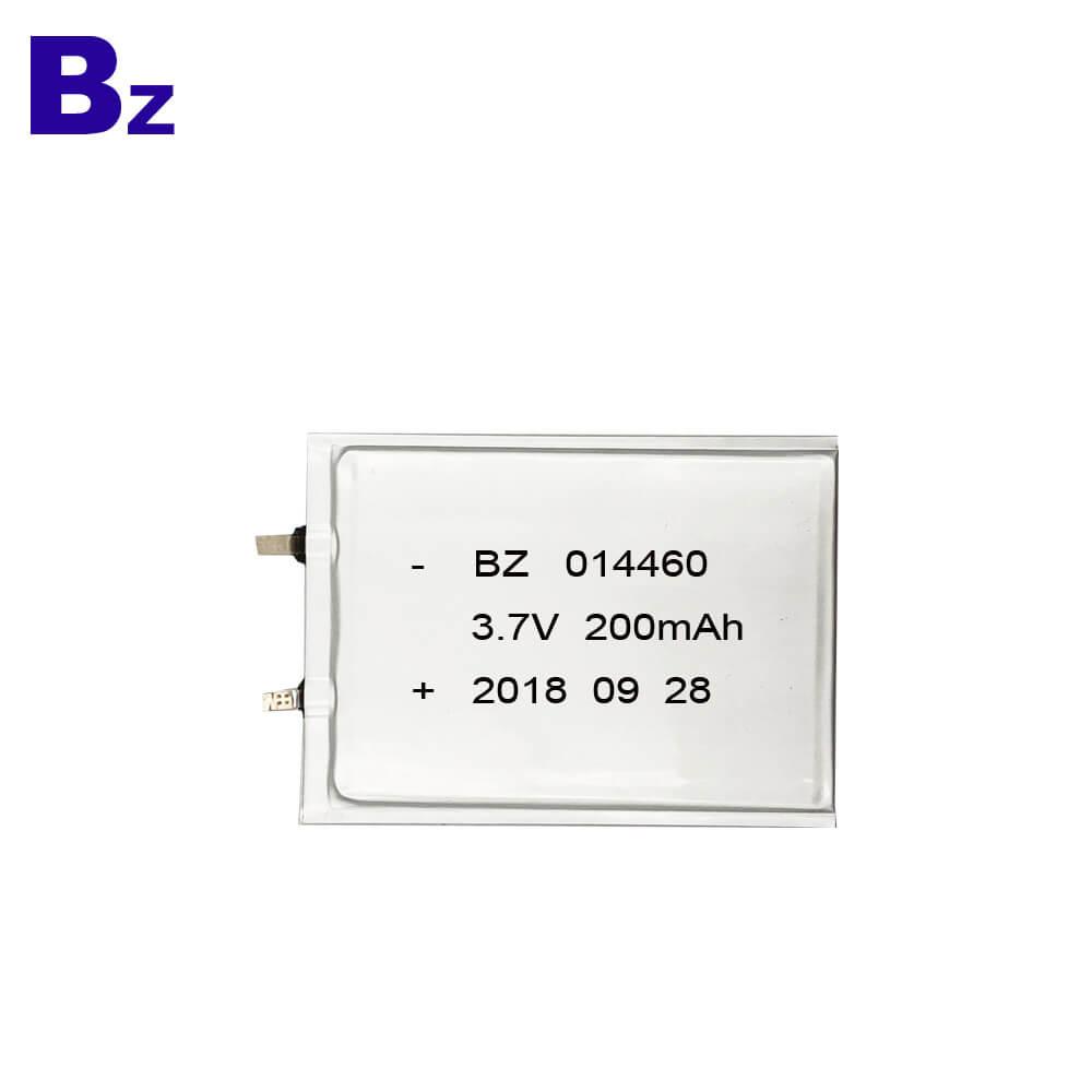 BZ 014460 200mAh 3.7V Super Thin Polymer Li-Ion Battery