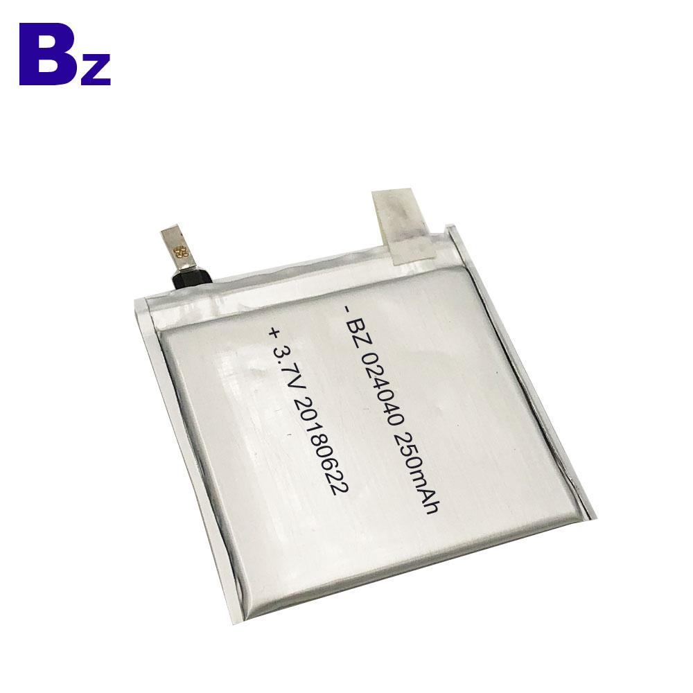 024040 250mAh 3.7V Lipo Battery Cell