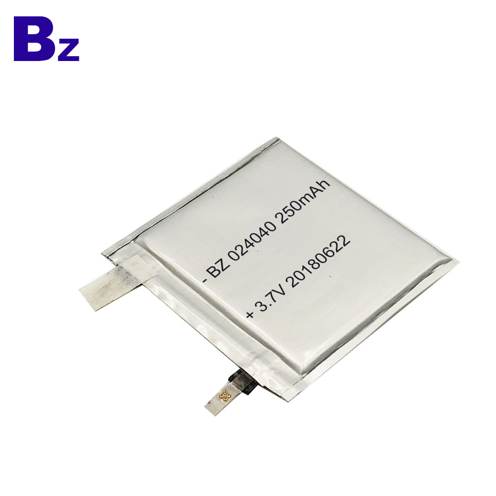 250mAh 3.7V Lipo Battery Cell