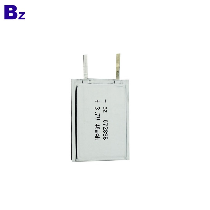 072836 3.7V 40mAh Rechargeable Super-thin Battery