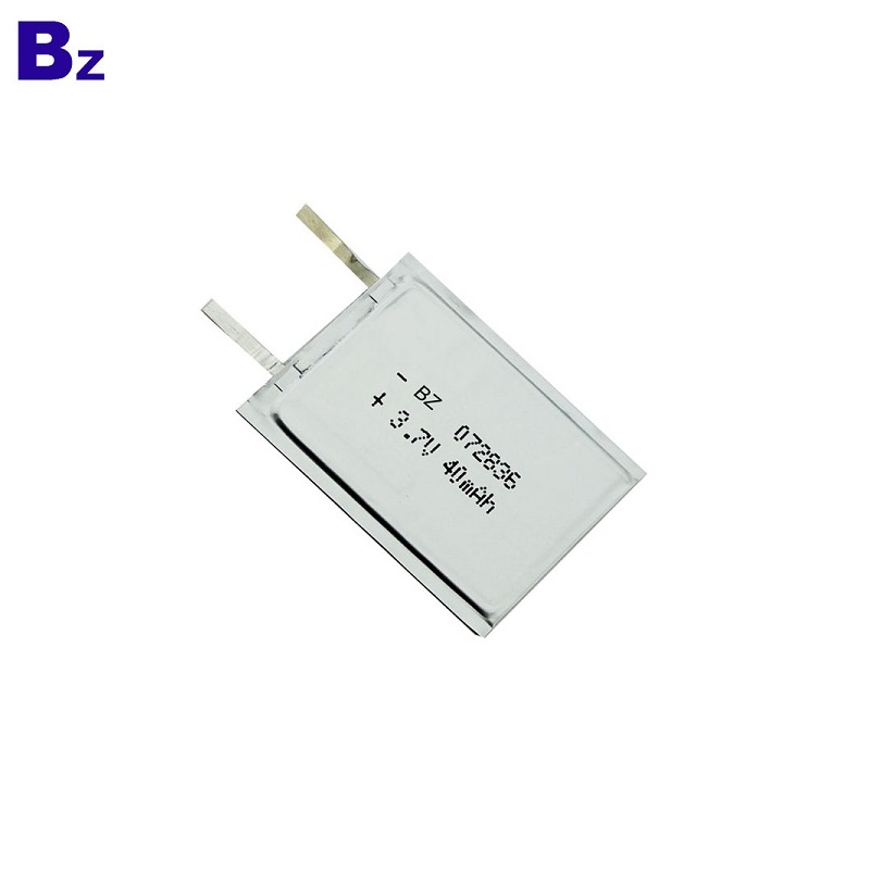 OEM Rechargeable Super-thin Battery 3.7V 40mAh
