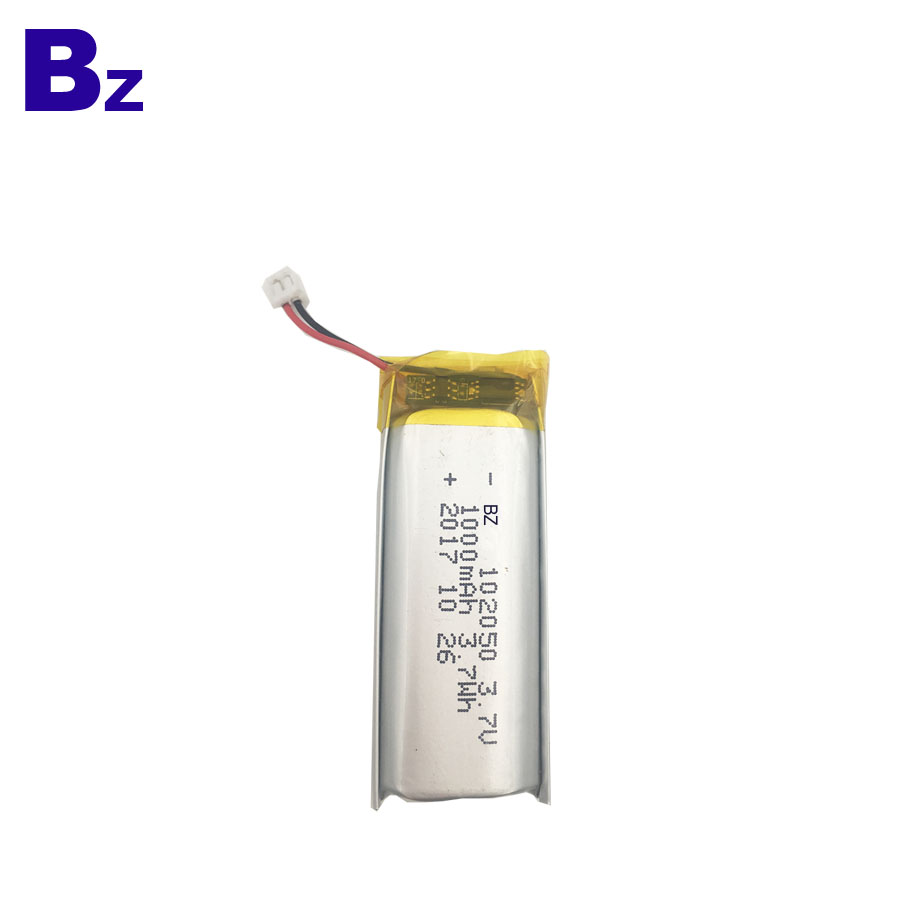 102050 1000mAh 3.7V Rechargeable Li-Polymer Battery