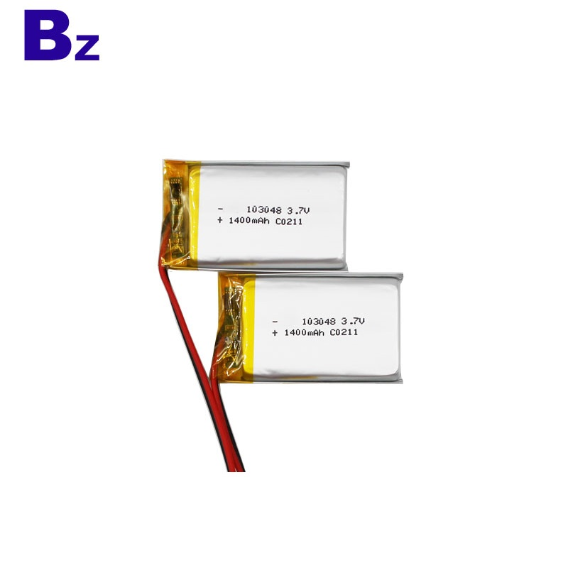 103048 3.7V 1400mAh Li-ion Polymer Battery