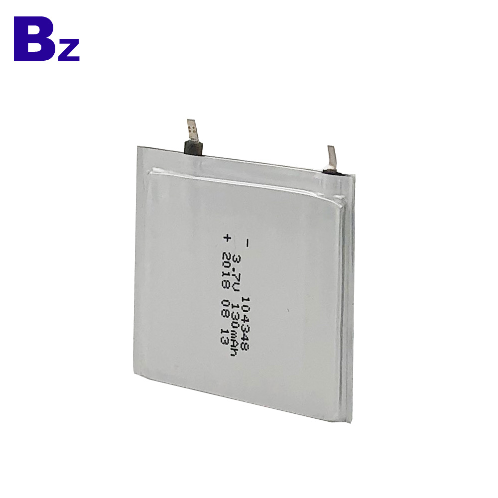 104348 130mAh 3.7V Polymer Li-Ion Battery