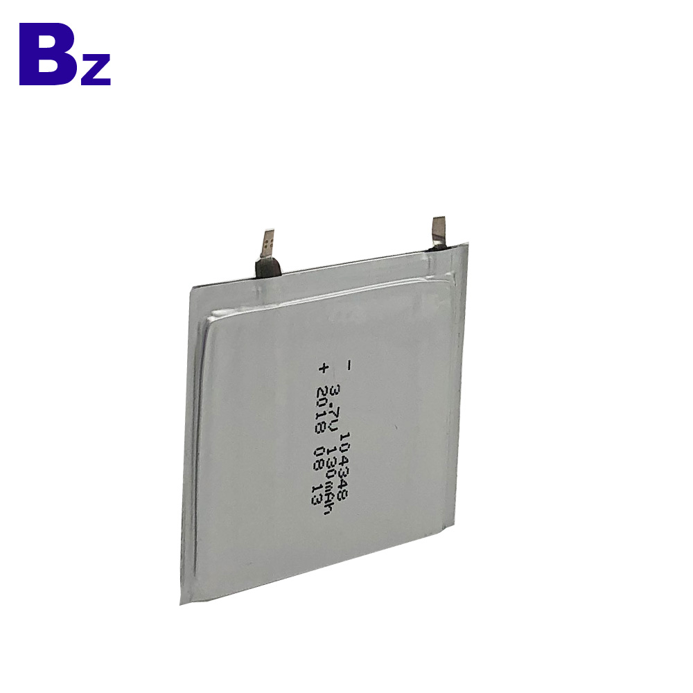 130mAh 3.7V Polymer Li-Ion Battery