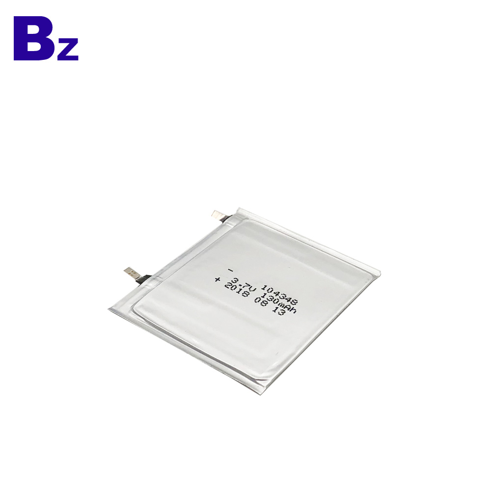 Customized Super Thin Battery 130mAh 3.7V
