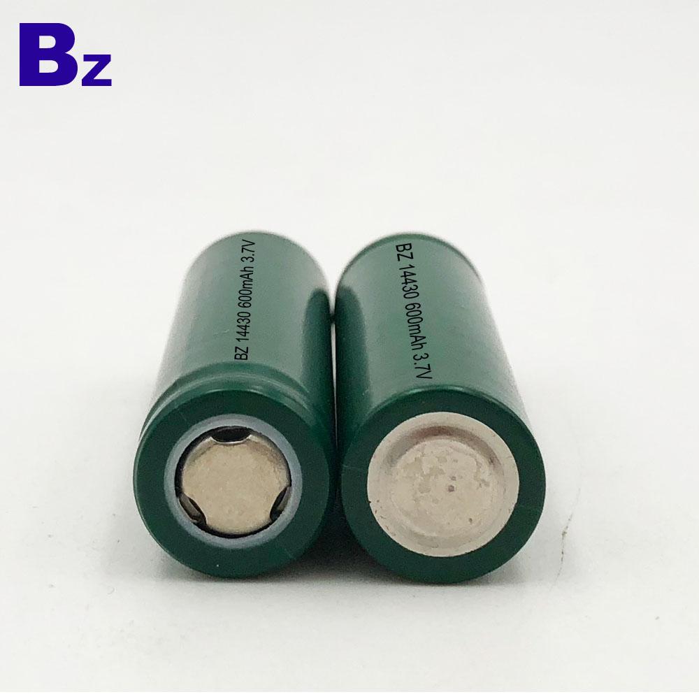 14430 600mAh 3.7V Lithium Ion Battery