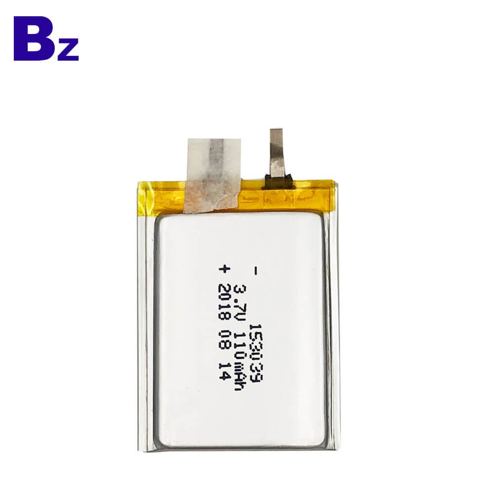 153039 110mAh 3.7V Polymer Li-Ion Battery