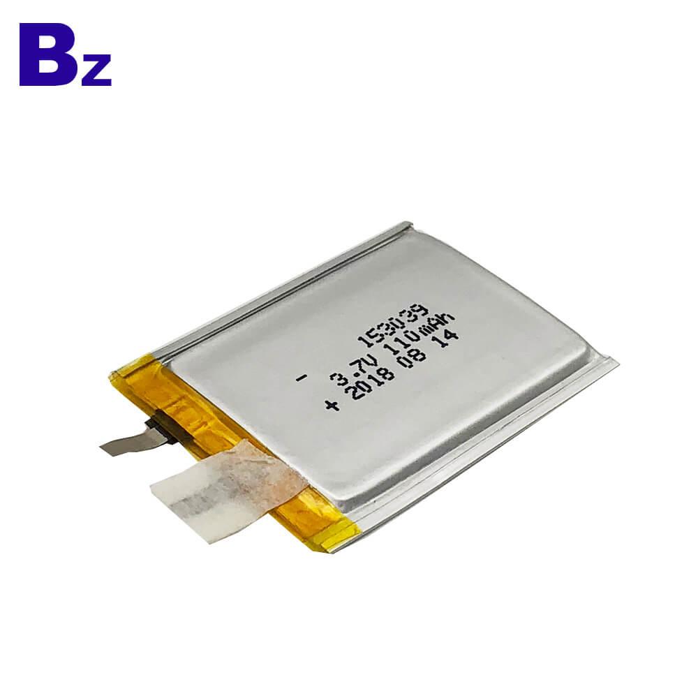 Customized Super Thin Battery 153039 110mAh