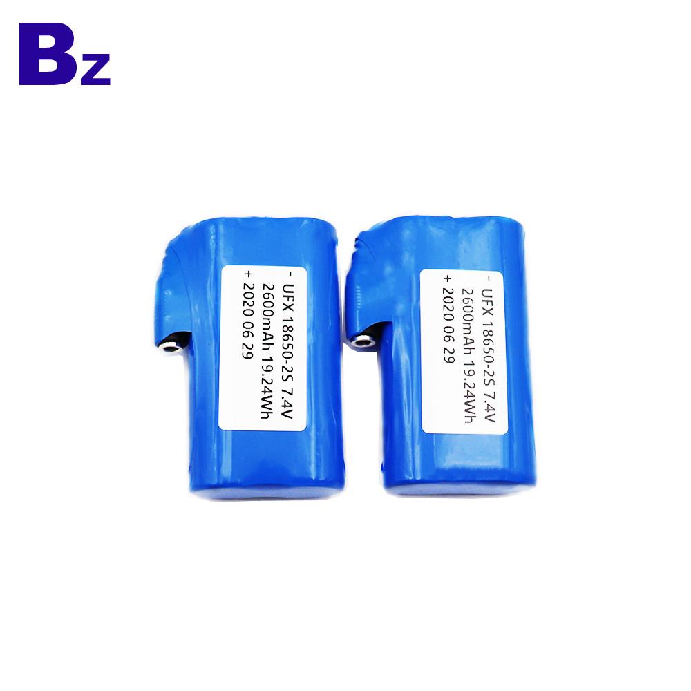 UFX 18650-2S 7.4V Li-Ion Cylindrical Battery