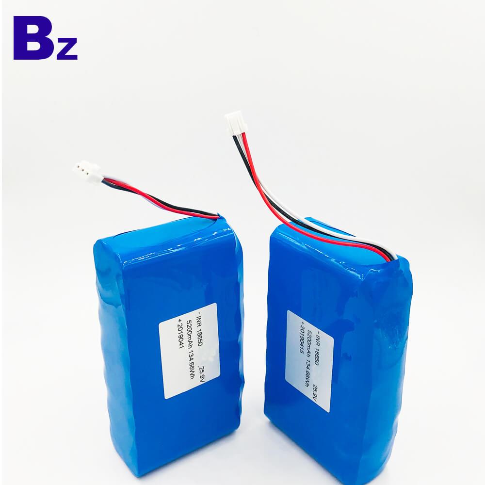 18650 7S2P 25.9V 5200mAh Li-ion Battery Packs