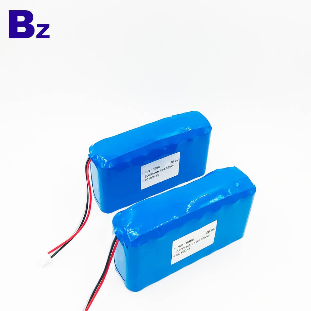 18650 7S2P 25.9V 5200mAh Li-ion Battery