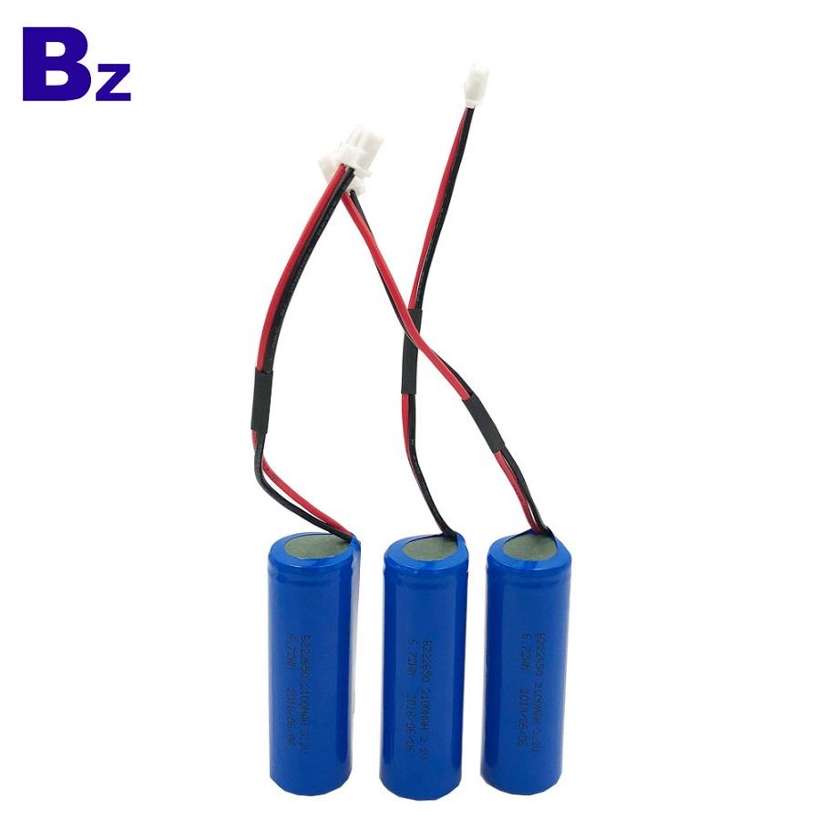 Customized LiFePO4 Battery 22650 3.2V 2100mAh