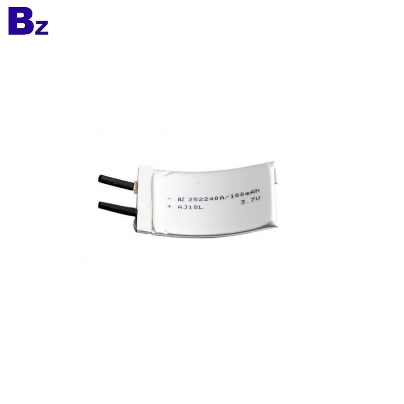 BZ 252240 100mAh 3.7V Flexible Battery