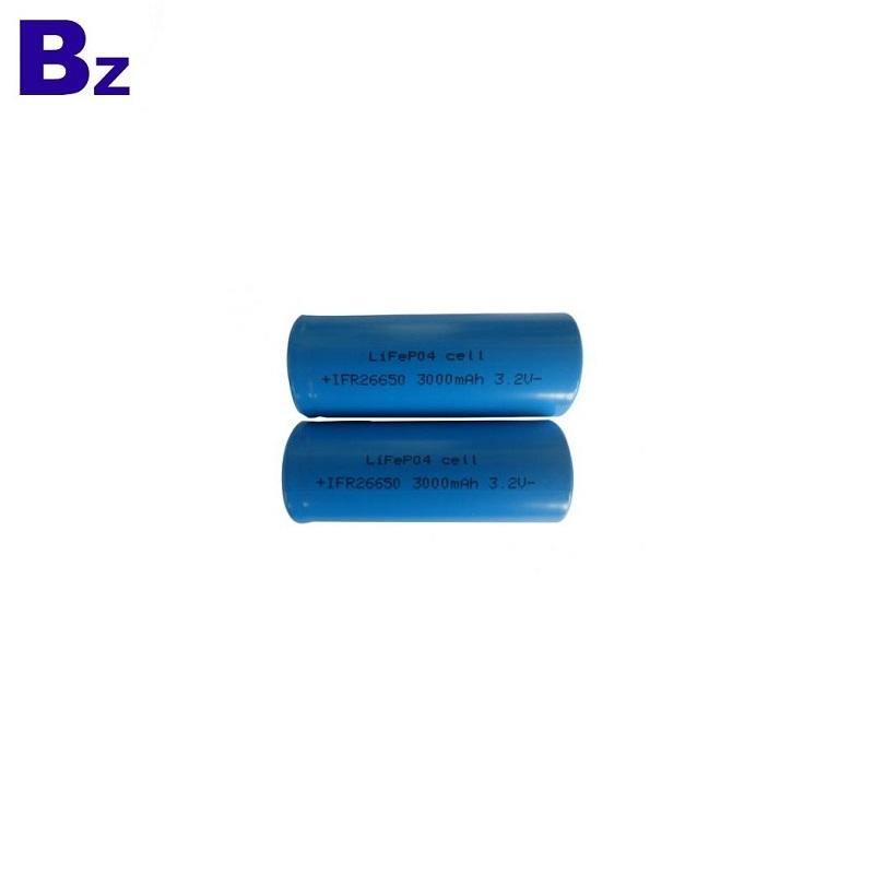 3000mAh 3.2V 26650 LiFePO4 Battery