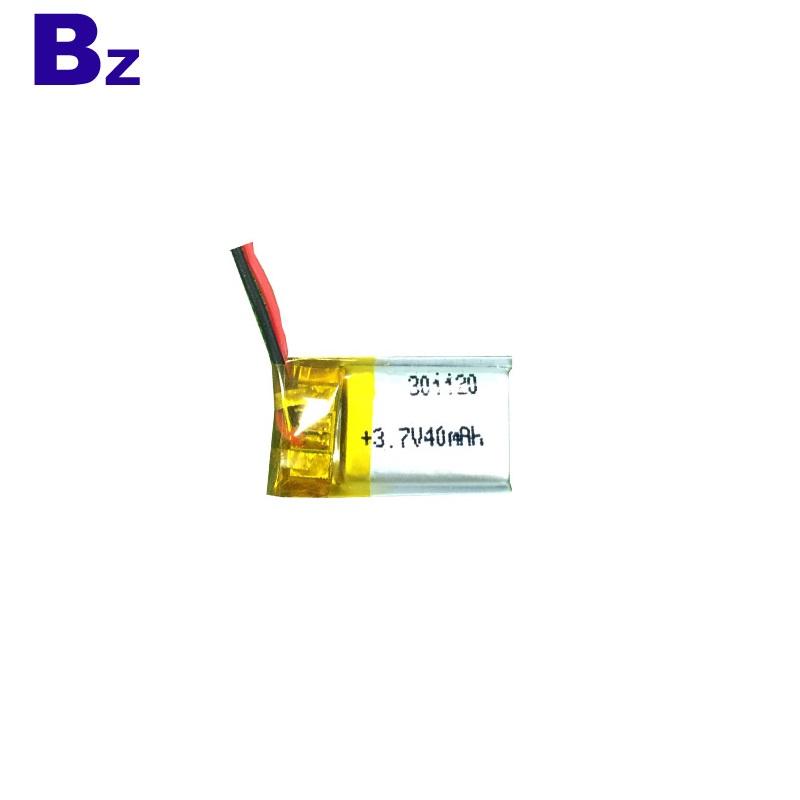 301120 40mAh 3.7V Rechargeable Battery