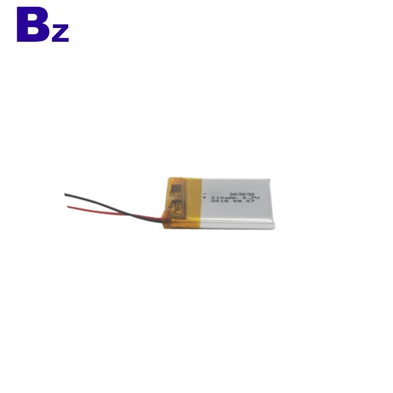 Customize 3.7V 210mAh Lipo Battery