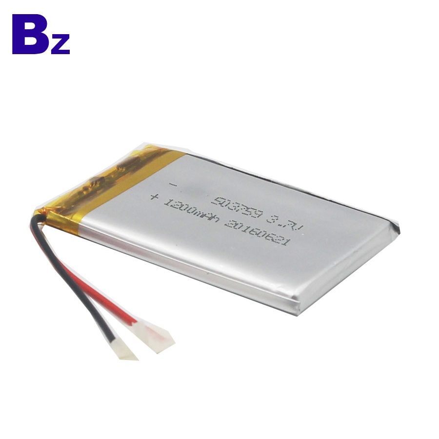 503759 1200mAh 3.7V Rechargeable LiPo Battery