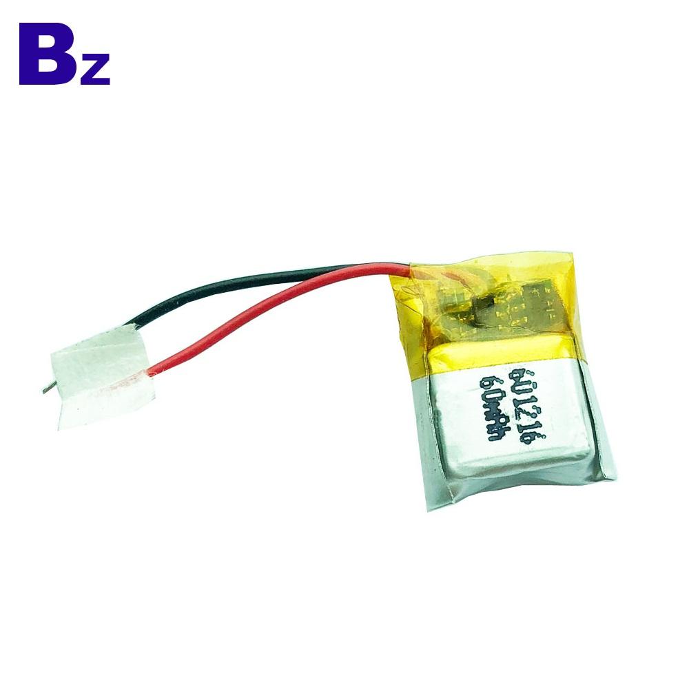 BZ 601216 60mAh 3.7V Lipo Battery